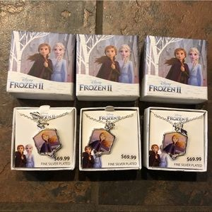 3 NWT Disney frozen necklaces